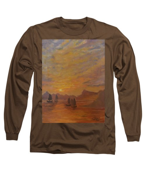 Long Sleeve T-Shirt featuring the painting Dubrovnik by Julie Todd-Cundiff