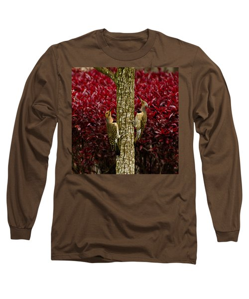 Dueling Woodpeckers Long Sleeve T-Shirt