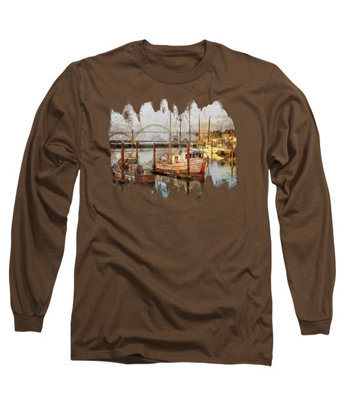 Early Light On Yaquina Bay Long Sleeve T-Shirt