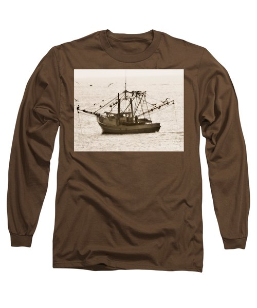 Early Morning Trawling  Long Sleeve T-Shirt by Christy Ricafrente