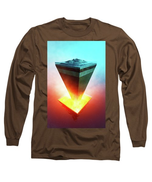 Earth Core Structure Cross-section Long Sleeve T-Shirt