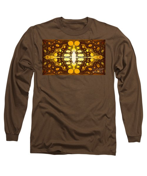 Earthly Awareness Abstract Organic Artwork By Omaste Witkowski Long Sleeve T-Shirt