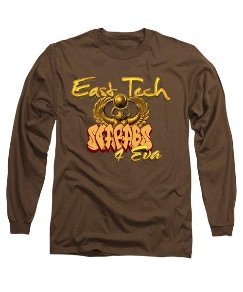East Tech Scarabs Long Sleeve T-Shirt by Romaine Head
