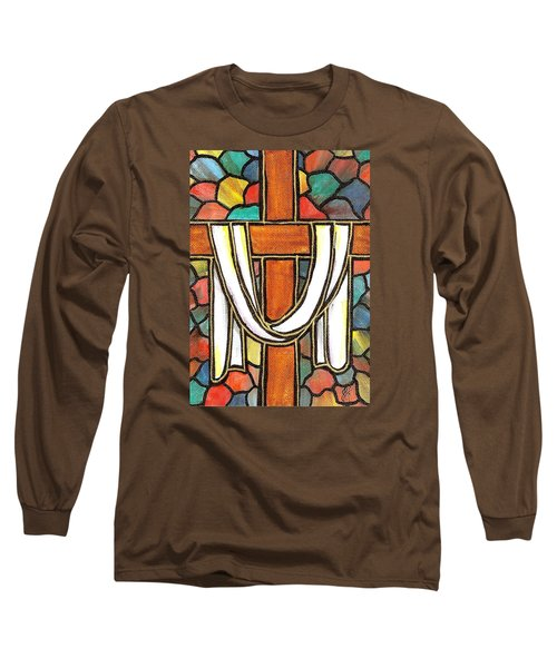 Long Sleeve T-Shirt featuring the painting Easter Cross 6 by Jim Harris
