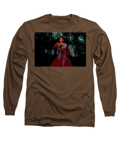 Long Sleeve T-Shirt featuring the photograph Eerie Woods by Brian Hughes