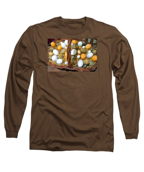 Eggs In All Sizes And Cool Colors Long Sleeve T-Shirt
