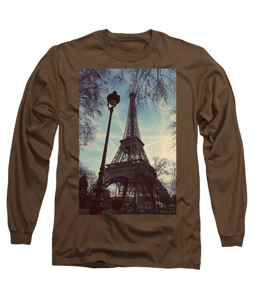 Eiffel Tower And Lampost Long Sleeve T-Shirt