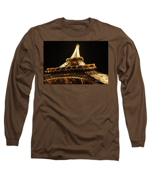 Long Sleeve T-Shirt featuring the photograph Eiffel Tower At Night by MGL Meiklejohn Graphics Licensing