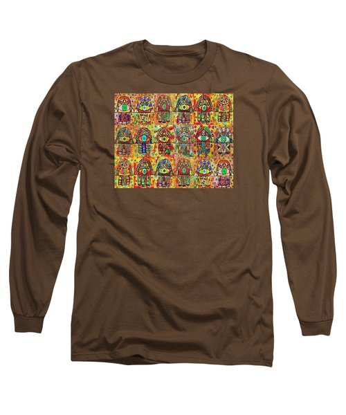 -eighteen Vintage Chai Hamsas Long Sleeve T-Shirt