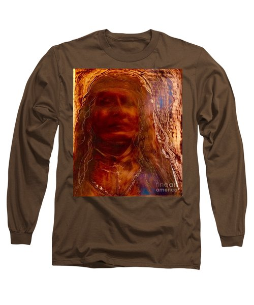 Long Sleeve T-Shirt featuring the painting Wisdomkeepers by FeatherStone Studio Julie A Miller