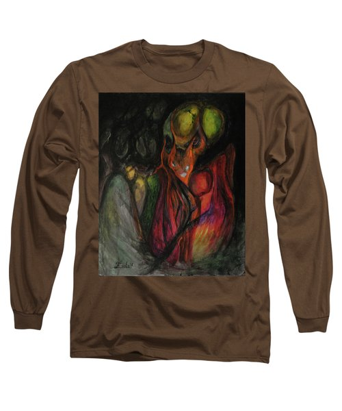 Long Sleeve T-Shirt featuring the painting Elder Keepers by Christophe Ennis