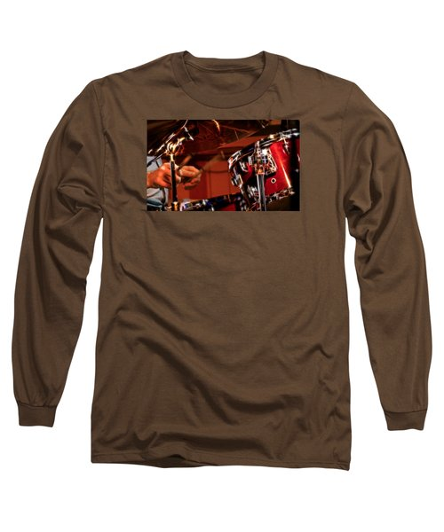 Long Sleeve T-Shirt featuring the photograph Electric Drums by Cameron Wood