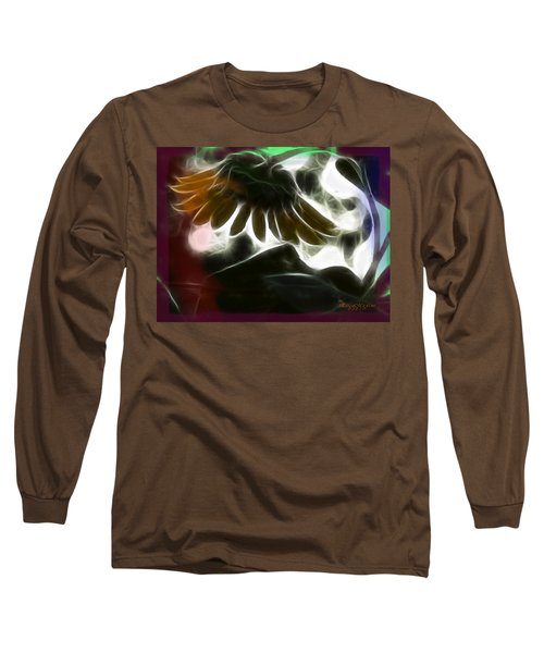 Electric Sunflower Long Sleeve T-Shirt by EricaMaxine  Price