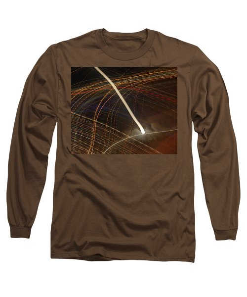 Long Sleeve T-Shirt featuring the pyrography Electric Universe by Michael Lucarelli
