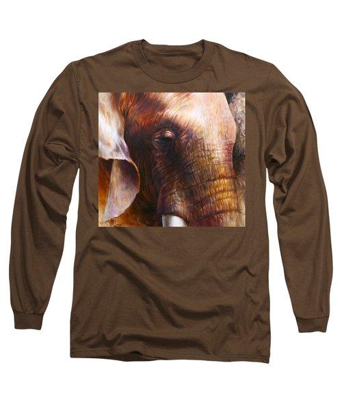 Elephant Empathy Long Sleeve T-Shirt by Vali Irina Ciobanu