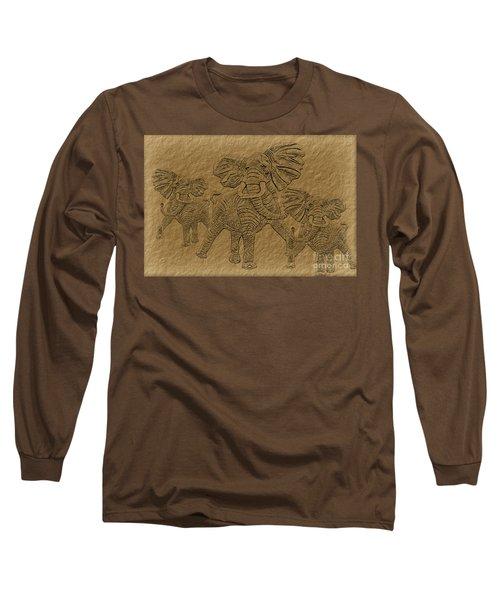 Elephants Three Long Sleeve T-Shirt