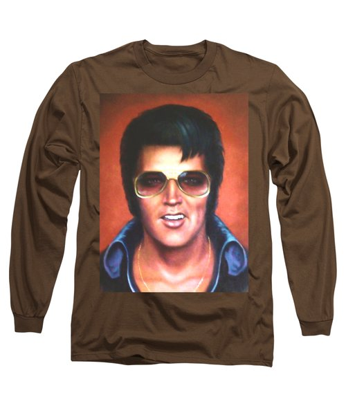 Elvis Presley Long Sleeve T-Shirt by Loxi Sibley