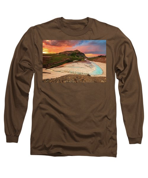 Emerald Lake Sunset Long Sleeve T-Shirt