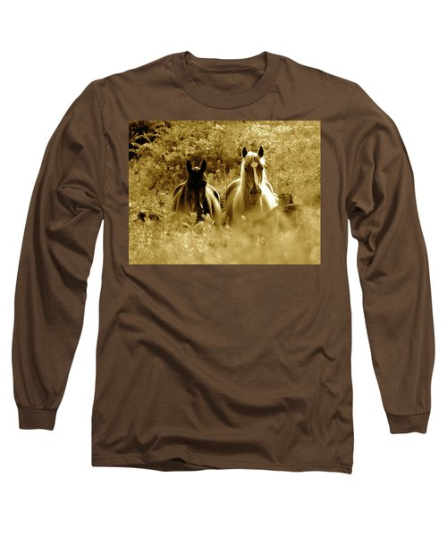 Emerging From The Farm Long Sleeve T-Shirt