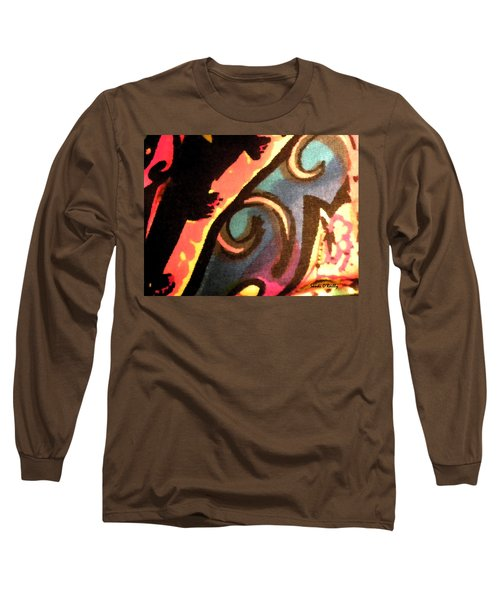 Long Sleeve T-Shirt featuring the mixed media En Joy Ll by Sandi OReilly