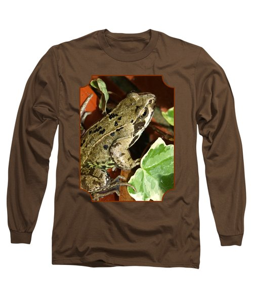 En Route To The Pond Long Sleeve T-Shirt by Gill Billington