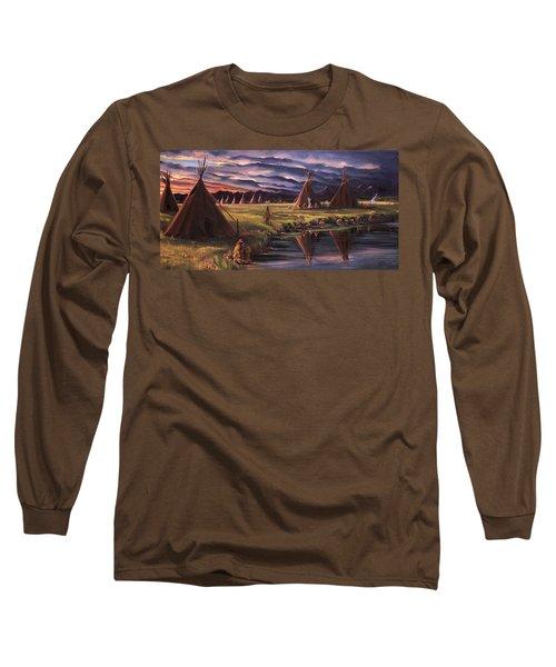 Encampment At Dusk Long Sleeve T-Shirt