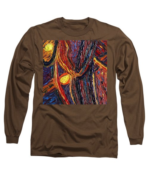 Long Sleeve T-Shirt featuring the painting Energy Of Two by Vadim Levin