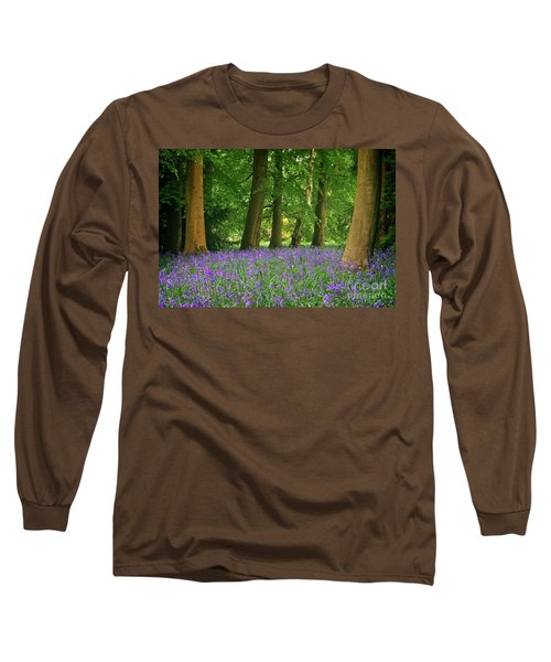 English Bluebell Woodland Long Sleeve T-Shirt