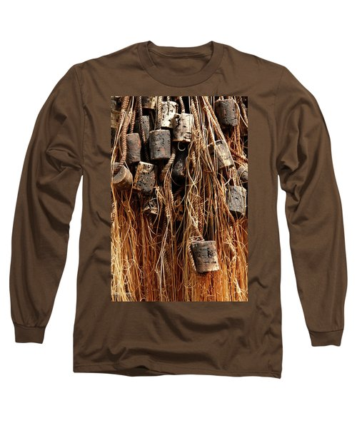 Long Sleeve T-Shirt featuring the photograph Enkhuizen Fishing Nets by KG Thienemann