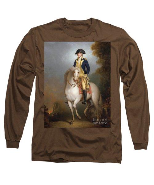 Equestrian Portrait Of George Washington Long Sleeve T-Shirt