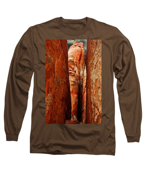 Long Sleeve T-Shirt featuring the photograph Erotic Rock by Harry Spitz