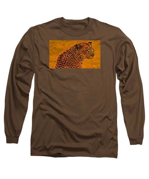 Essence Of Leopard Long Sleeve T-Shirt by Stephanie Grant