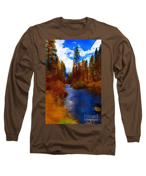 Evening Hatch On The Metolius Painting Long Sleeve T-Shirt by Diane E Berry