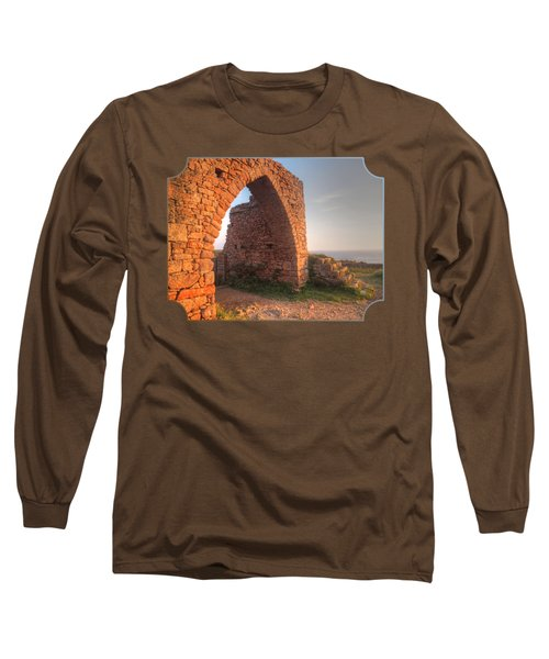 Evening Light On Grosnez Castle Ruins Jersey Long Sleeve T-Shirt by Gill Billington