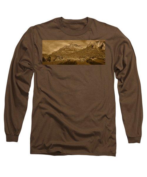 Evening Shadows Pano Tnt Long Sleeve T-Shirt