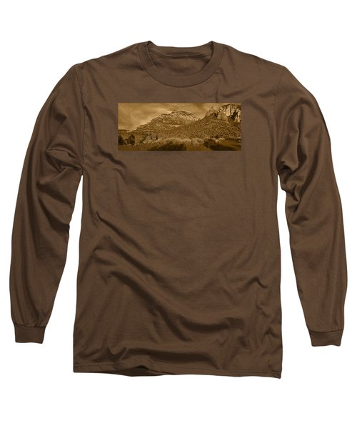 Evening Shadows Pano Tnt Long Sleeve T-Shirt
