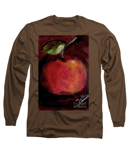 Long Sleeve T-Shirt featuring the painting Eve's Apple.. by Jolanta Anna Karolska