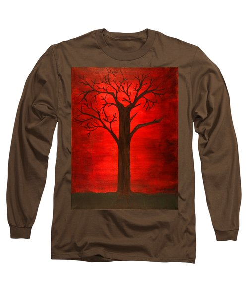 Evil Tree Long Sleeve T-Shirt by David Stasiak