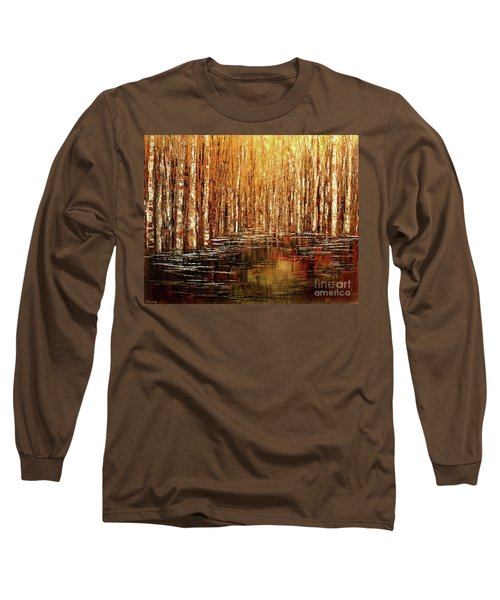 Long Sleeve T-Shirt featuring the painting Exploration Of Ohio by Tatiana Iliina