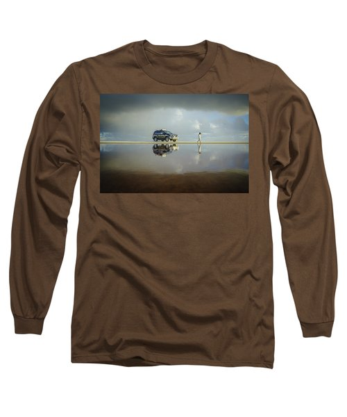 Exploring The Beach On A Rainy Day Long Sleeve T-Shirt
