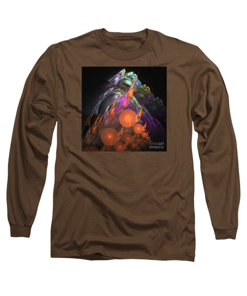 Exuberant - Abstract Art Long Sleeve T-Shirt by Sipo Liimatainen