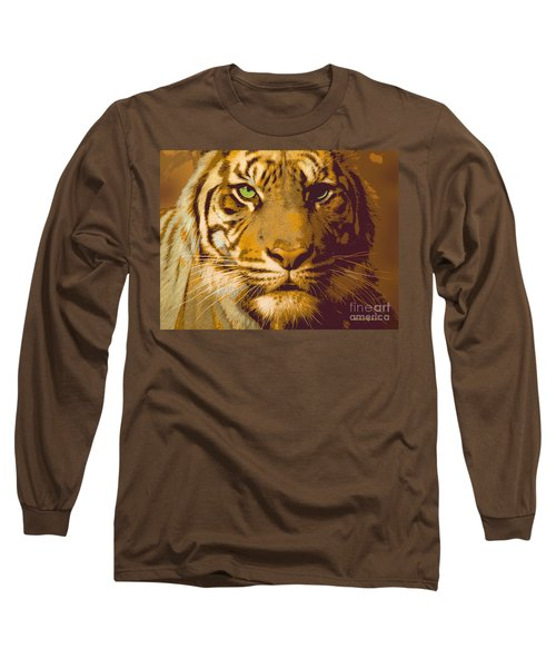 Eye Of The Tiger Animal Portrait  Long Sleeve T-Shirt