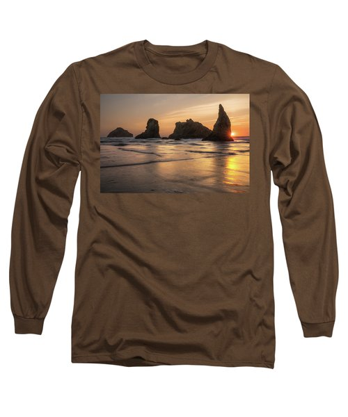 Face Rock Sunset Long Sleeve T-Shirt