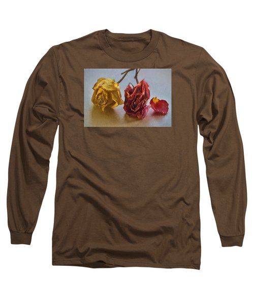 Long Sleeve T-Shirt featuring the photograph Faded Flowers by Vladimir Kholostykh