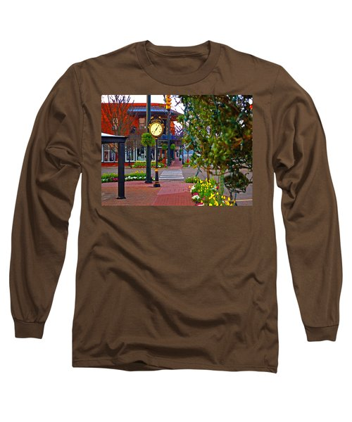 Fairhope Ave With Clock Down Section Street Long Sleeve T-Shirt