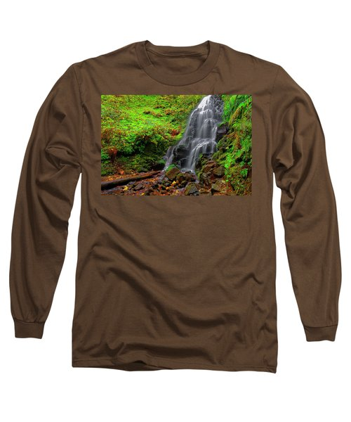 Long Sleeve T-Shirt featuring the photograph Fairy Falls Oregon by Jonathan Davison