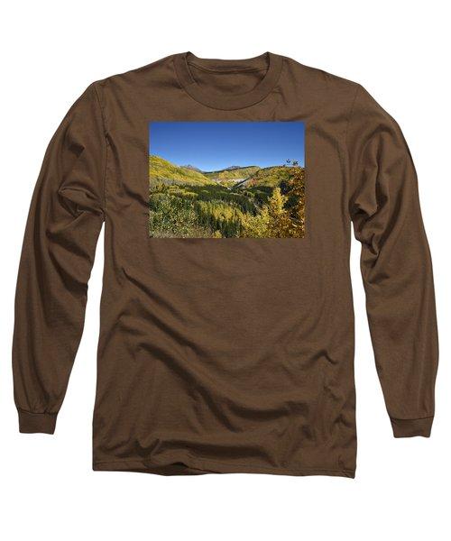 Fall Aspens In San Juan County In Colorado Long Sleeve T-Shirt by Carol M Highsmith
