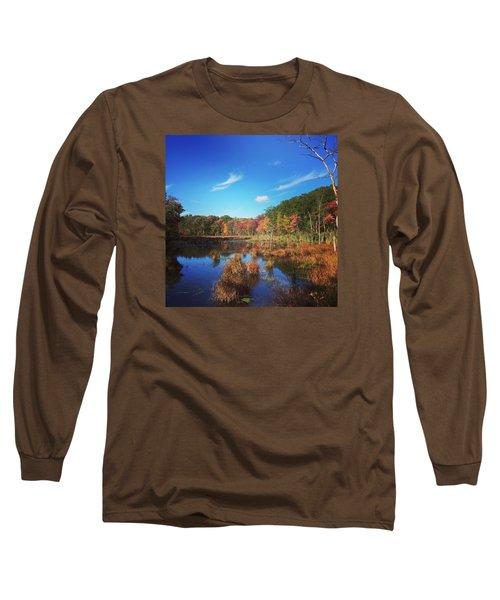 Fall At The Pond Long Sleeve T-Shirt by Jason Nicholas