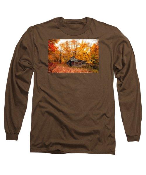 Fall At The Sugar House Long Sleeve T-Shirt by Robert Clifford