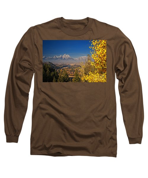 Fall Colors At The Snake River Overlook Long Sleeve T-Shirt by Sam Antonio Photography